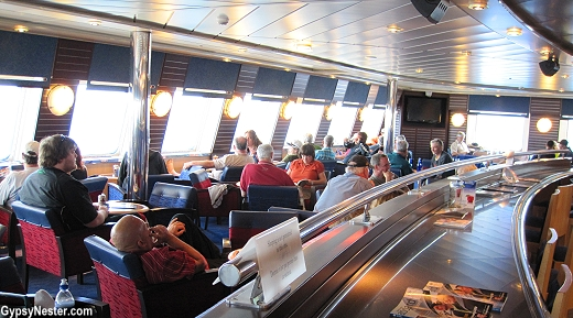 The the panoramic lounge aboard Marine Atlantic's MV Puttee