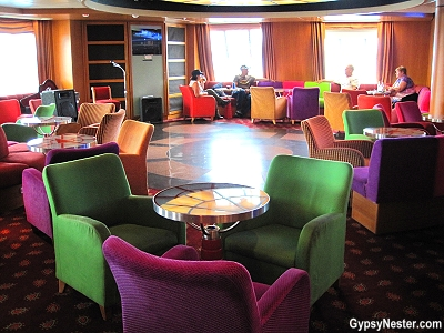 The lounge has entertainment on Marine Atlantic's Atlantic Vision in Newfoundland