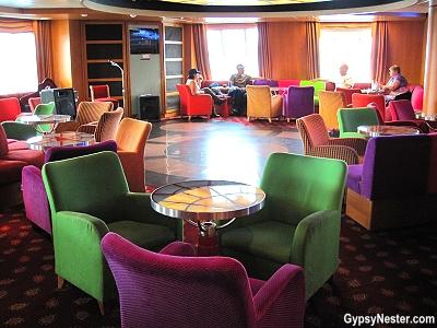 The lounge has entertainment on Marine Atlantic's Atlantic Vision in Newfoundland