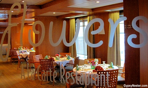 The restaurant Floweres on Marine Atlanic's Atlantic Vision