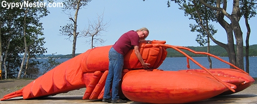 Giant roadside lobster in Michael's Harbour, Newfoundland, Canada