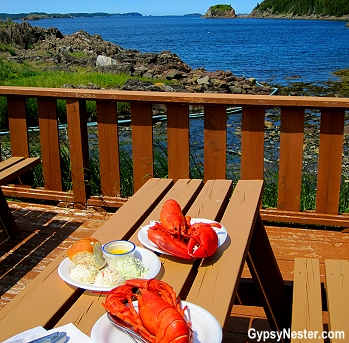 Lobster picnic lunch in Newfoundland