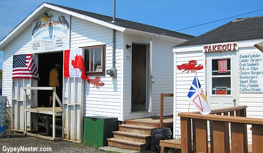 A lobster pool restaurant in Newfoundland Canada