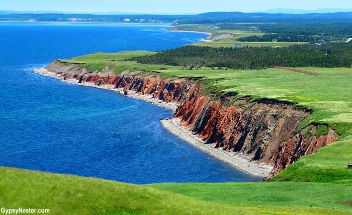 Stunning sea cliffs on the Gulf of St. Lawrence, Newfoundland