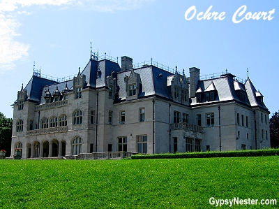 Ochre Court where the Great Gatsby was filmed in Newport, Rhode Island