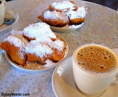 Beignets at Cafe du Monde in New Orleans, Louisiana
