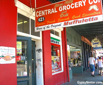 Central Grocery in New Orleans, home of the muffuletta