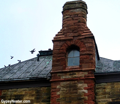 The old post office in Pictou, Nova Scotia, the only building in the world with a window in its chimney