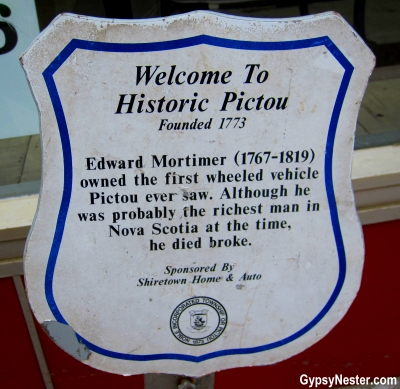 Funniest historical sign ever! In Pictou, Nova Scotia, Canada