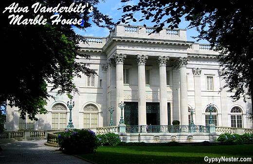 Alva Vanderbilt's Marble House in Newport, Rhode Island