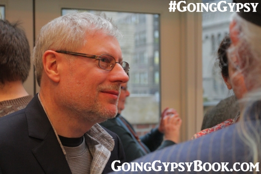Dan Zukowski at the Going Gypsy book release party in NYC http://www.goinggypsybook.com