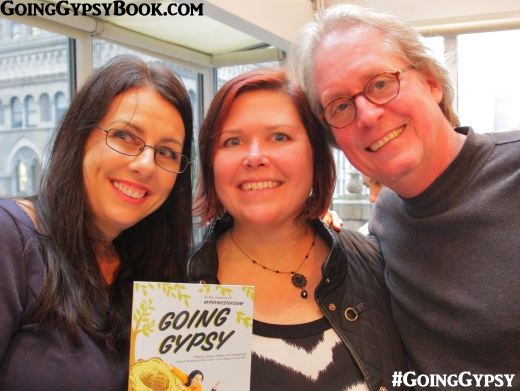 Meghan Walker of Tandem Literary, our publicist, at the Going Gypsy book release party in New York City http://www.goinggypsybook.com