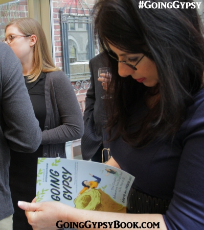 Veronica signs a copy of Going Gypsy at the book release book party at the Library Hotel in New York City! http://www.goinggypsybook.com