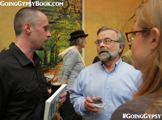 Dan Battaglia from Audible, Jay Cassell of Skyhorse Publishing and Jenny Pierson, our editor at the Going Gypsy book release party http://www.goinggypsybook.com