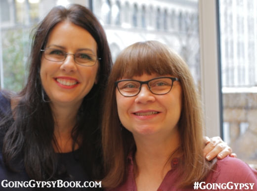 Veronica and Zell Watson catch up at the Going Gypsy book release party http://www.goinggypsybook.com