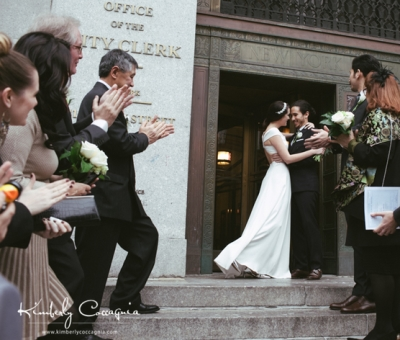 The Piglet and Frenchie get married at NYC City Hall! GypsyNester.com