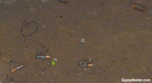 Batteries on the subway tracks