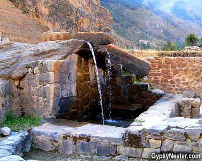 The fountain at Ollantaytambo