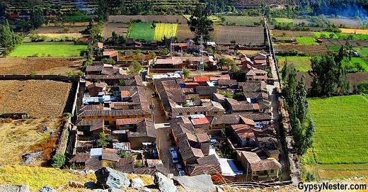 The village of Ollantaytambo, Peru