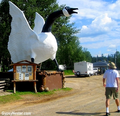 The giant goose at Young's General Store in Wawa, Canada