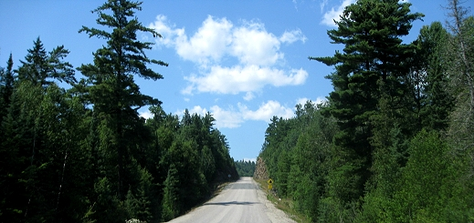 Lonely road in Ontario