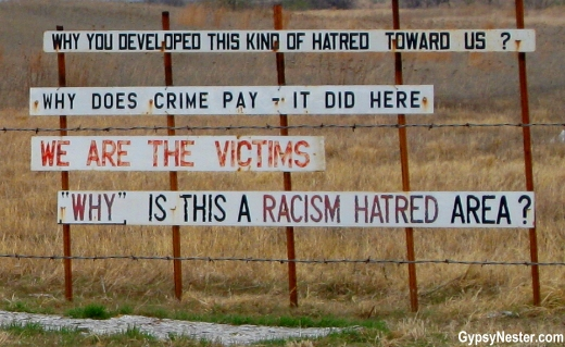 Signs at the Nemechek Ranch in Perry, Oklahoma, Noble County. GypsyNester.com