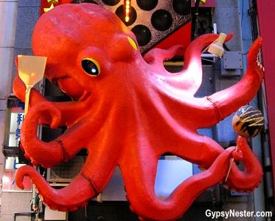 Octopus sign in The Dōtonbori in Osaka, Japan