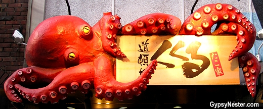 Octopus sign in The Dōtonbori in Osaka, Japan