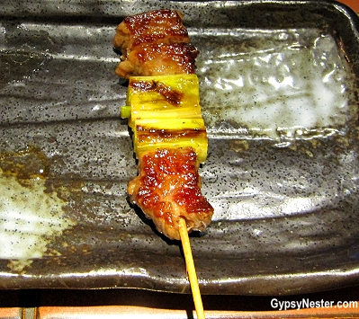 All food is on a stick at this restaurant in Osaka, Japan!