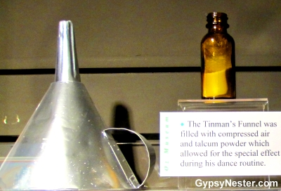 The Tin Man's hat at The Oz Museum in Wamego, Kansas