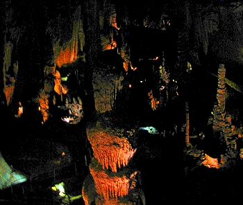 The Cathedral Room in Blanchard Springs Caverns