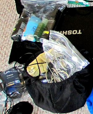 Packing for South America - large zip-lock sandwich bags our your friend!