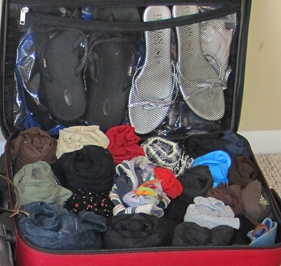 Packing for South America - Roll your clothes!