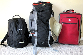 Luggage we're taking to South America