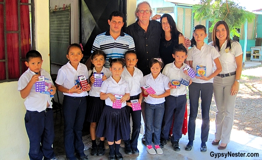 Delivering school supplies in Costa Rica with Pack for a Purpose