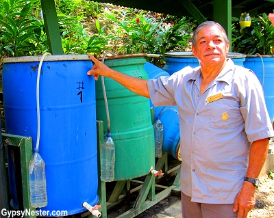 Don Miguel, a leader in composting in Costa Rica, shows us how ecofriendly Parador Resort is