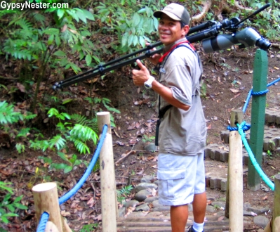 Our favorite guide at Parador Resort in Costa Rica, Danny, brought the jungle to life for us. Carrying a pair of binoculuars, a tripoded telescope, and a crazy-keen ear for animal sounds, Danny giddily pointed out the abundace of wonders we walked by just hours earier