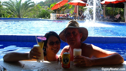 The swim up bar at Parador Resort and Spa in Costa Rica