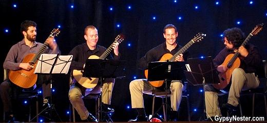 The Florida Guitar Quartet perfoming in Quepos, Costa Rica