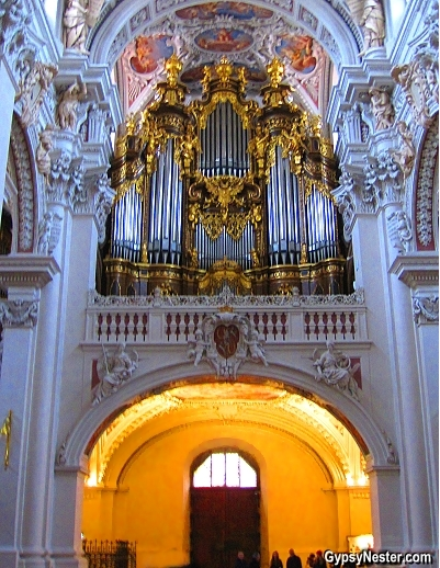 The pipe organ of St. Stephen's Cathedral in Passau, Germany