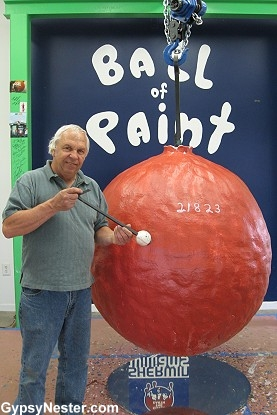 World's largest ball of paint!