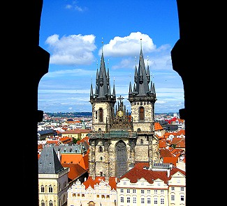 View from the top of the Astronomical Clock
