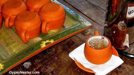 Coca Tea in Peru at Posada del Inca in Yucay