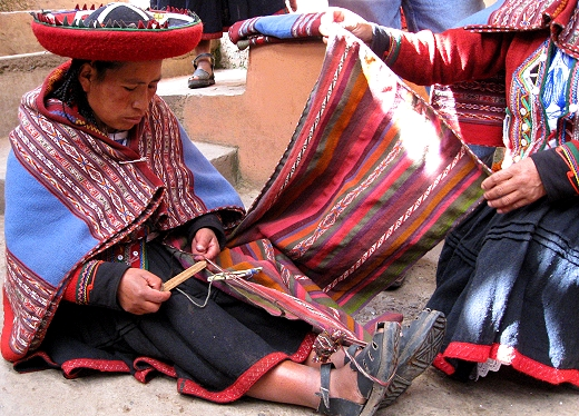 The weaving cooperative in Chincheros, Peru