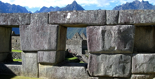 Amazing stone work at Machu Pichhu