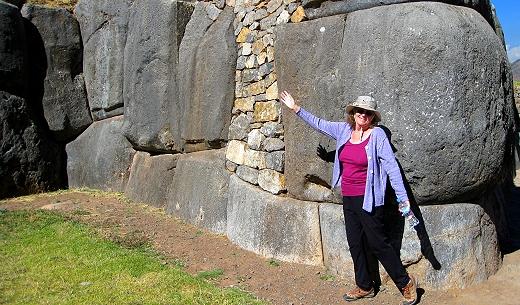 The enormous stones at Sacsayhuaman, Cusco, Peru