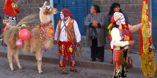 The procession of feast of Corpus Christi in Cusco, Peru