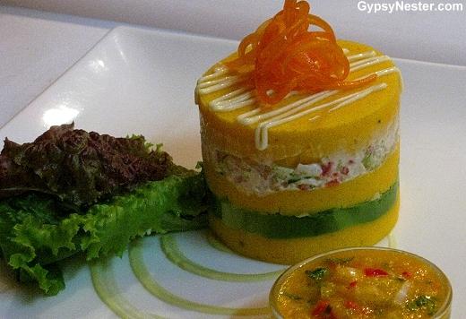 Causa Limeña at Señorio de Sulco Restaurant, Lima Peru