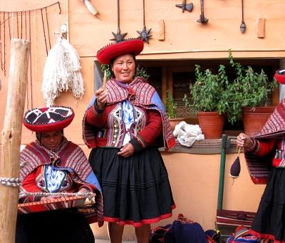The weaving cooperative in Chincheros, Peru