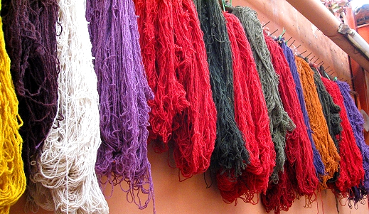 The many colors of Peruvian wool